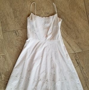 Ann Taylor size 8 whitw eyelet dress nwt